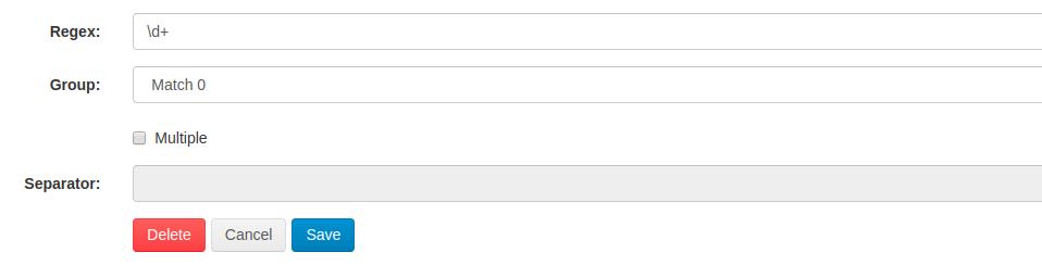 Web Scraper Cloud Parser Feature RegEx Regular Expression Parser Function
