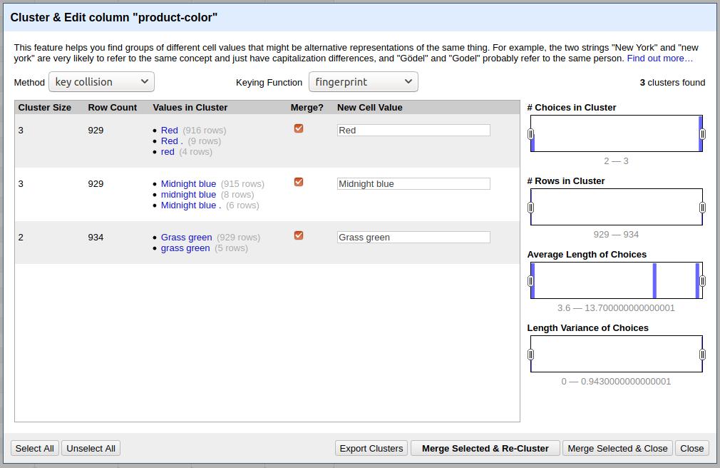 Data-Transformation-With-Open-Refine-Web-Scraper-Blog-Clustering-Records