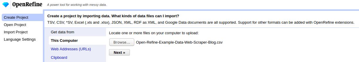 Data-Transformation-Open-Refine-Create-Project-Web-Scraper-Blog