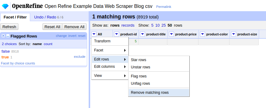 Remove-All-Matching-Rows-Facet-By-Flag-Web-Scraper-Open-Refine-Blog