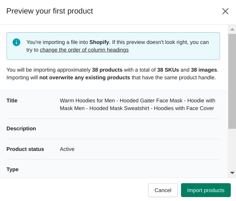 Importing-files-webscraper-shopify-product-preview-log-blog