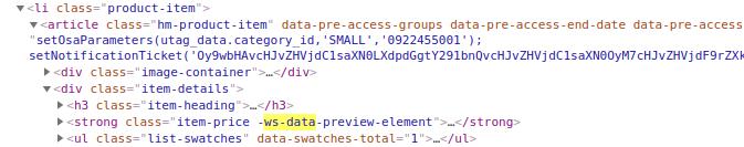 HTML-elements-of-website-explaining->-selector-Web-Scraper-Blog